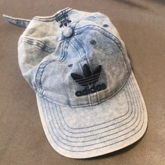 d8f0c4b7 adidas Accessories | Blue Acid Wash Baseball Hat | Poshmark